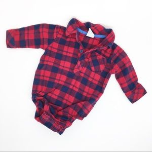 4/$12 Health-Tex Plaid Baby Onesie 0-3 Months